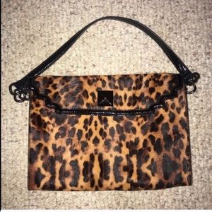 Kate Landry Leopard Purse